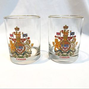Canadian Crest drinking glass
